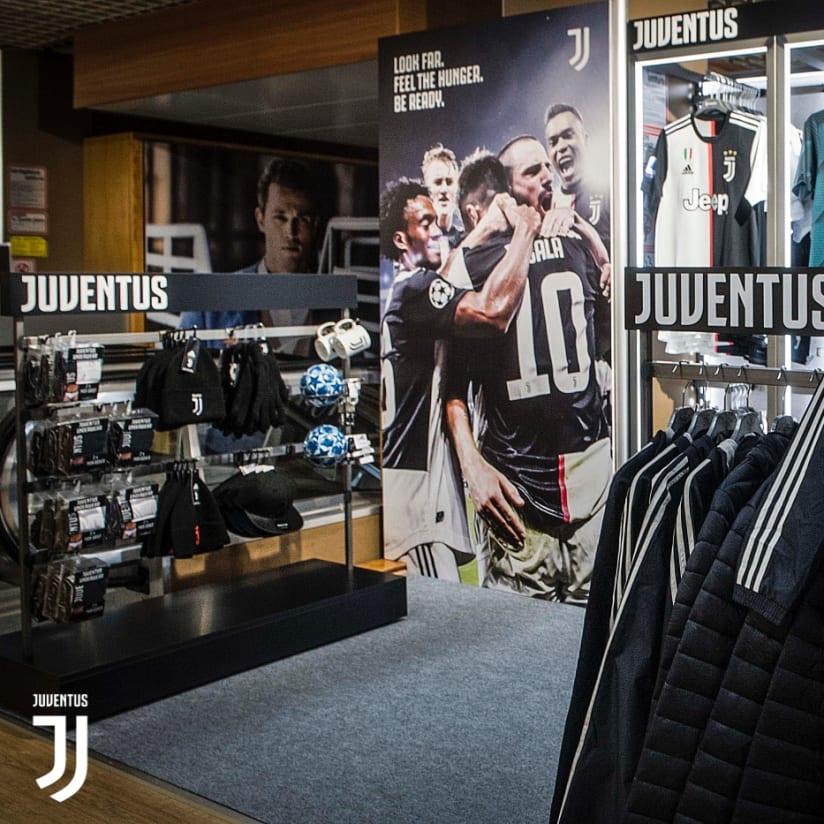 El rincón Juventus Store en Cortina D'Ampezzo