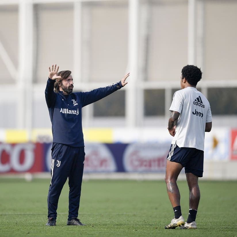 Training ahead of Spezia