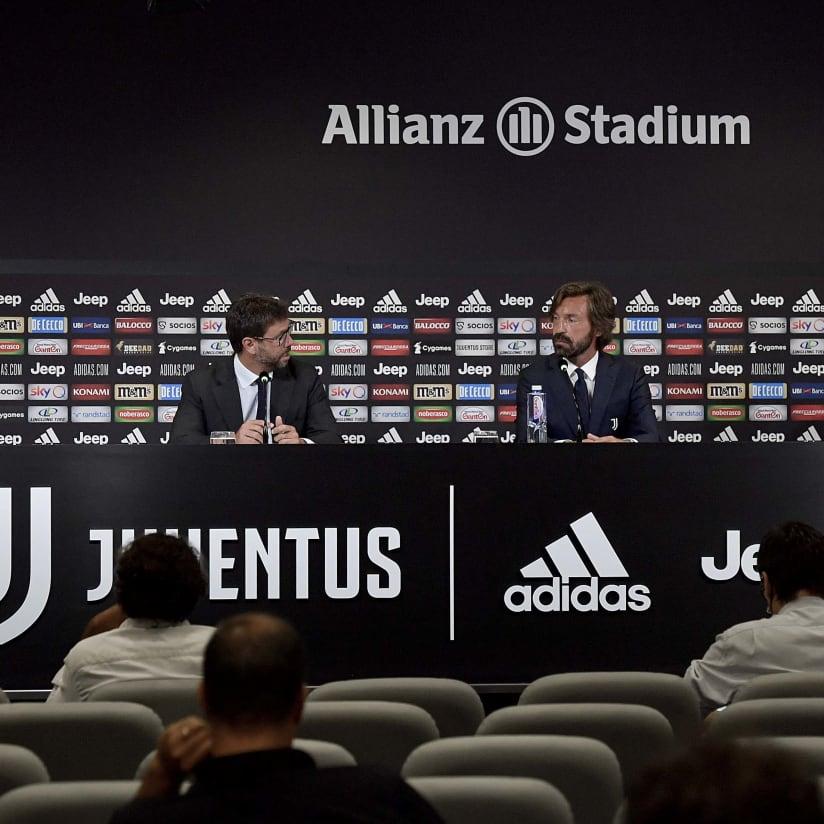Andrea Pirlo é apresentado como treinador do sub-23 da Juventus