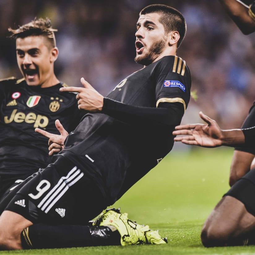 Morata bianconero: la prima volta...