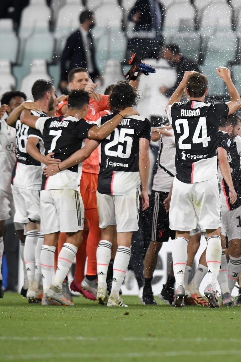 Esultanza Juventus Sampdoria 27 luglio 2020