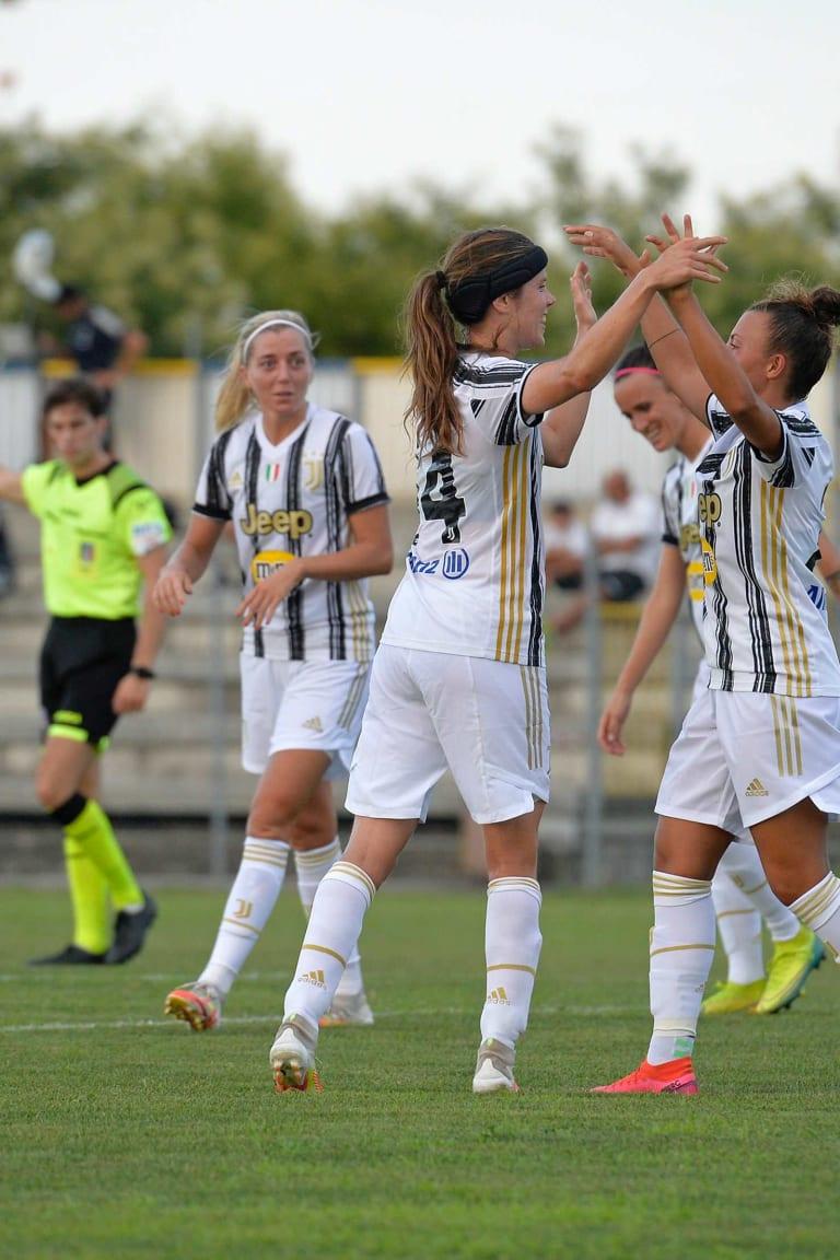Goleada per la prima amichevole Juventus Women