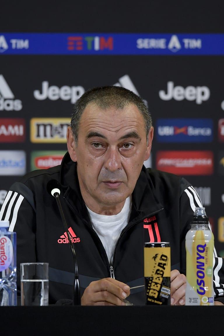Sarri: «Il derby è una partita particolare»