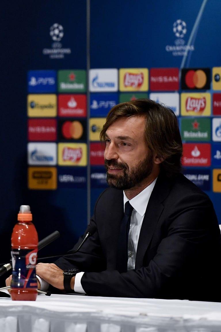 La conferenza stampa di Pirlo e Chiellini alla vigilia di Dynamo-Juve