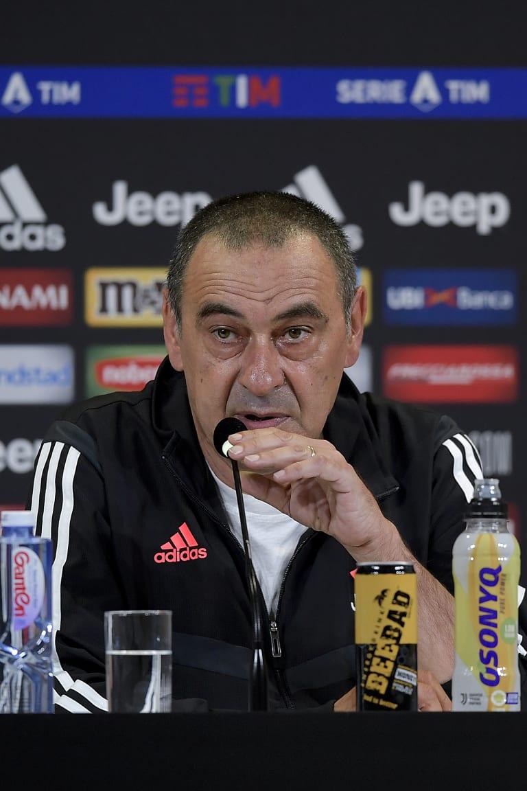 """Sarri: """"Um jogo complicado nos aguarda em Gênova"""""""