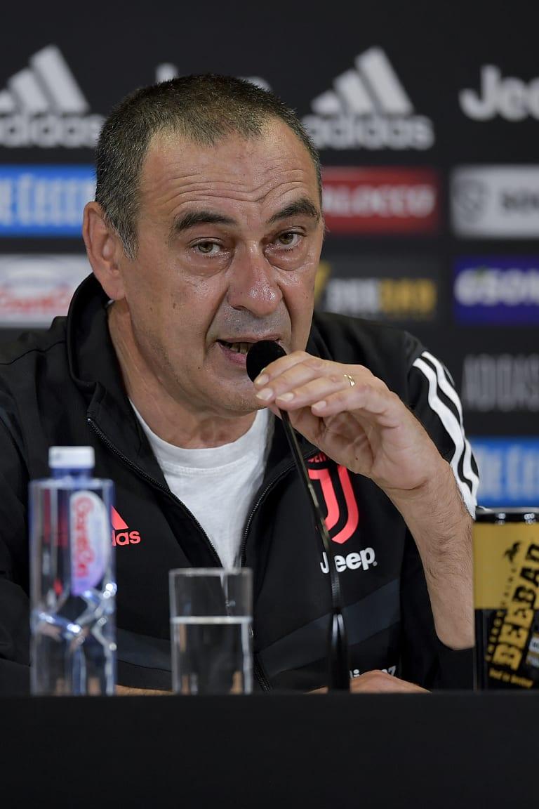 Le parole di Sarri alla vigilia di Sassuolo - Juventus