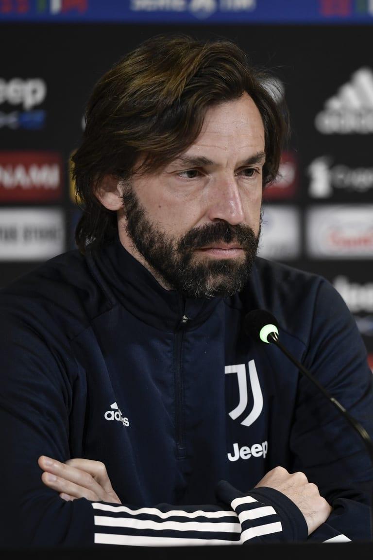 皮尔洛出席对阵斯佩齐亚的赛前新闻发布会