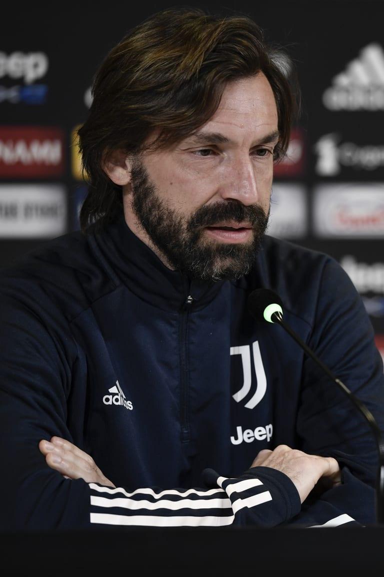 Le parole di Pirlo alla vigilia di Juventus - Lazio