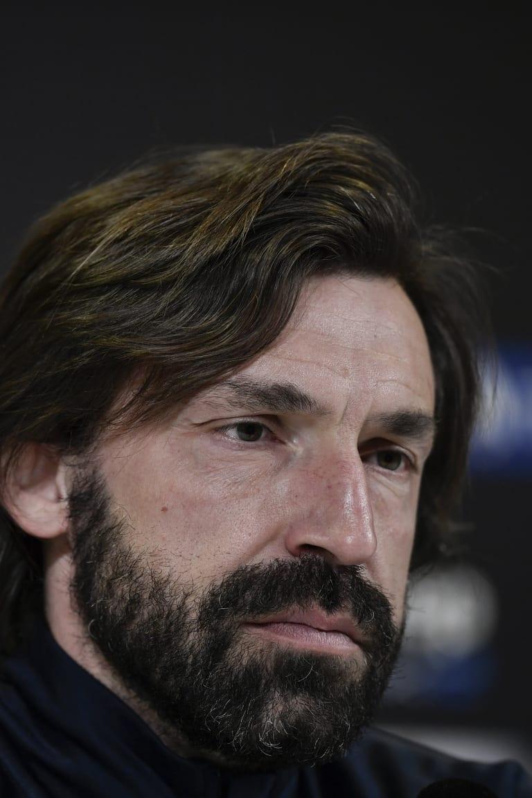 Mister Pirlo presenta Juve-Benevento