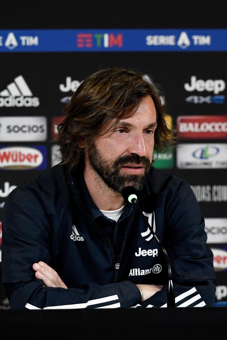 Mister Pirlo presenta Juve-Genoa