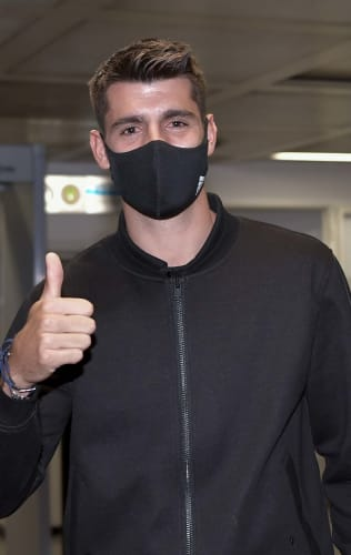 Alvaro Morata lands in Turin!
