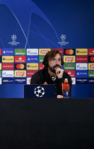 Pirlo e Danilo in conferenza stampa alla vigilia di Juve-Barça